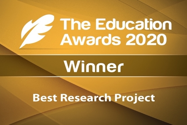 The AHA project won the Best Research Project at the Education Awards Ireland 2020